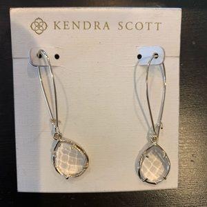 NWOT KENDRA SCOTT CLEAR JEWEL DANGLY EARRINGS
